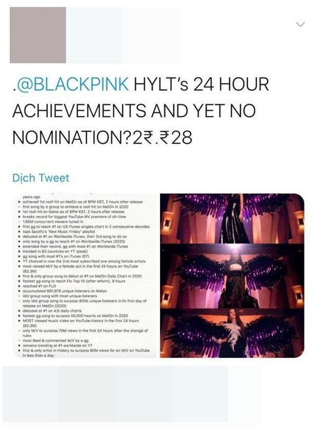 BLACKPINK không được đề cử 'Best Kpop' tại VMAs 2020: lập luận MV 'How You Like That' ra mắt 'trễ deadline' liệu có hợp lý? - Ảnh 3