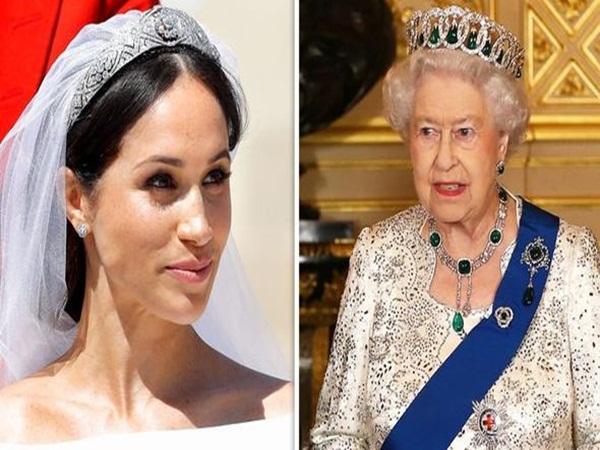 Sách mới về nhà Sussex tiết lộ sự thật đằng sau tranh cãi giữa Meghan với Nữ hoàng về chiếc vương miện 'không được phép dùng trong hôn lễ hoàng gia' - Ảnh 1