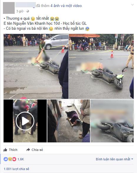 Bà nội, bà ngoại vật vã gào khóc nằm bệt bên thi thể cháu trai 16 tuổi bị xe tông tử vong - Ảnh 1