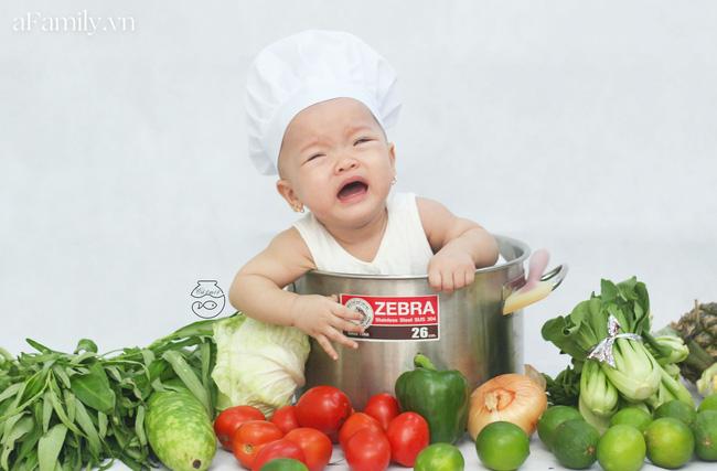 Nhờ mỗi chiếc nồi luộc gà và rau củ trong bếp, mẹ trẻ giúp con có ngay bộ ảnh 'xịn mịn' chẳng kém gì ngoài tiệm - Ảnh 4