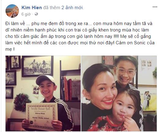 'Út Ráng' Kim Hiền tự hào khoe thành tích học tập đáng nể của con trai  - Ảnh 1