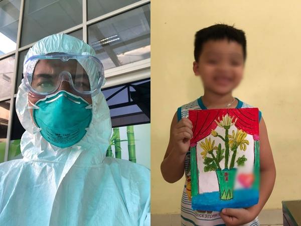 """Bác sĩ Bệnh viện Bạch Mai vào Đà Nẵng chống Covid-19 khi con trai đang sốt 40 độ: """"Bố thương lắm nhưng chỉ biết để trong lòng!"""""""