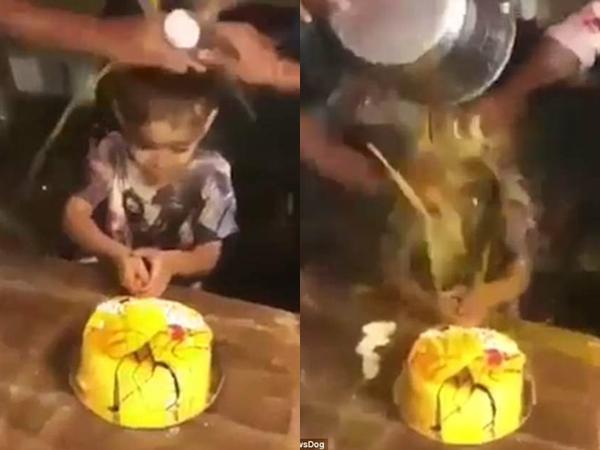 Clip: Buổi sinh nhật thảm họa của bé trai 3 tuổi cùng những tiếng cười man rợ của người lớn khiến dân mạng 'sôi máu'
