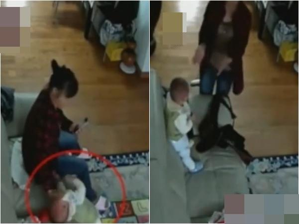 Clip: Người giúp việc bịt miệng bé 11 tháng tuổi gần ngạt thở vì bị cản trở nói chuyện điện thoại