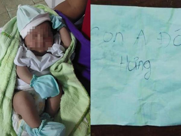 Hàng chục người đến xin nhận bé trai bị bỏ rơi kèm mảnh giấy 'Con anh đó anh Hưng'