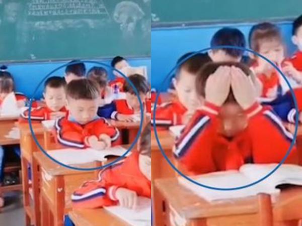 Sắp kiểm tra nhưng chưa học bài, bé trai 'múc' chữ bỏ vào đầu khiến dân tình cười rũ rượi