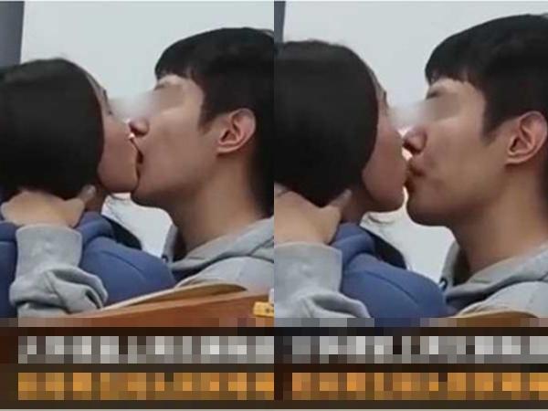 Cặp đôi sinh viên hôn đắm đuối như muốn nuốt cả môi ngay giữa lớp, phản ứng ngượng chín mặt của 'kẻ thứ ba' gây sốt