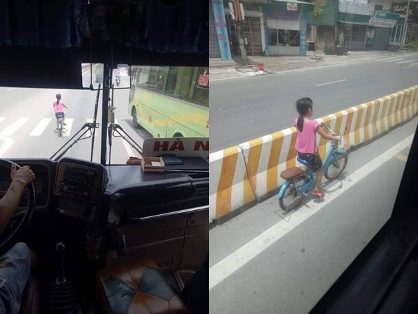 Thấy bé gái sang đường gặp nguy hiểm, tài xế xe khách che chở khiến bao người ấm lòng