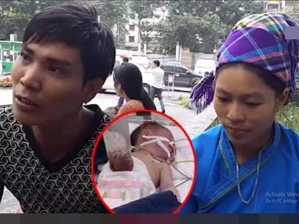 """Chồng """"chết lặng"""" sau khi tự đỡ đẻ cho vợ thấy con gái mới sinh bị lòi nội tạng ra ngoài"""
