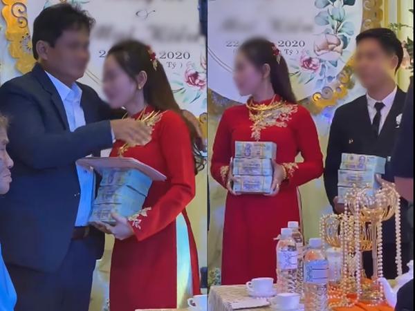 Clip cha mẹ trao của hồi môn hơn 30 tỷ cho cô dâu: Gồm 10 cây vàng, 3 tỷ tiền mặt và 11 lô đất