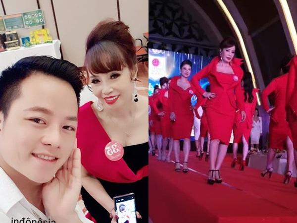 Chồng trẻ tháp tùng cô dâu 62 tuổi đi thi hoa hậu ở Indonesia