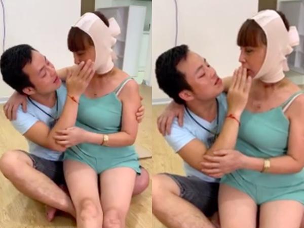 """Cô dâu 63 tuổi ở Cao Bằng được chồng kém 36 tuổi """"cưng như trứng mỏng"""", đút cho ăn từng miếng nhưng trái ý là bị cắn thâm tím người?"""