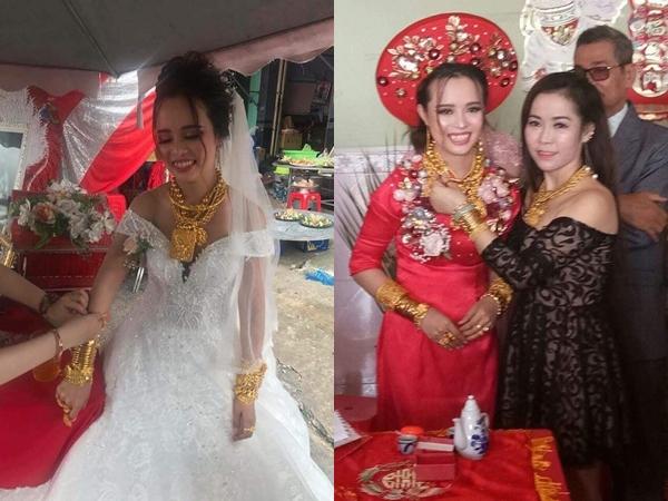 Hé lộ gia thế 'khủng' của cô dâu được tặng 129 cây vàng trong ngày cưới