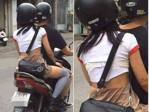Cô gái diện áo phông kín đáo nhưng vẫn khiến người đi đường hú hồn vì gu thời trang độc lạ thế này