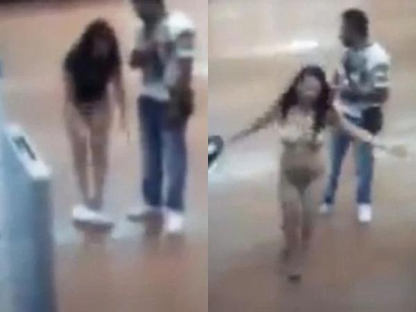 Bị nghi ăn trộm, cô gái tự lột sạch đồ giữa trung tâm thương mại