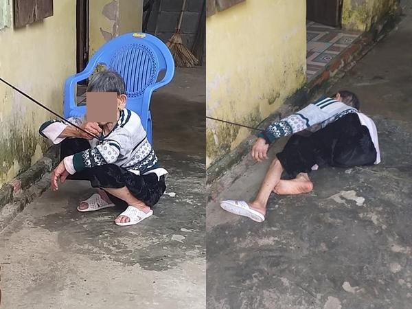 Mẹ già mù lòa bị con trai cột tay vào cửa sổ: 'Có ai ở đấy không tháo cho tôi chiếc dây ra với'