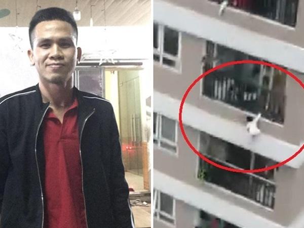 Clip: 'Siêu nhân đời thực' băng tường rào cứu sống bé gái rơi từ tầng 12 chung cư ở Hà Nội