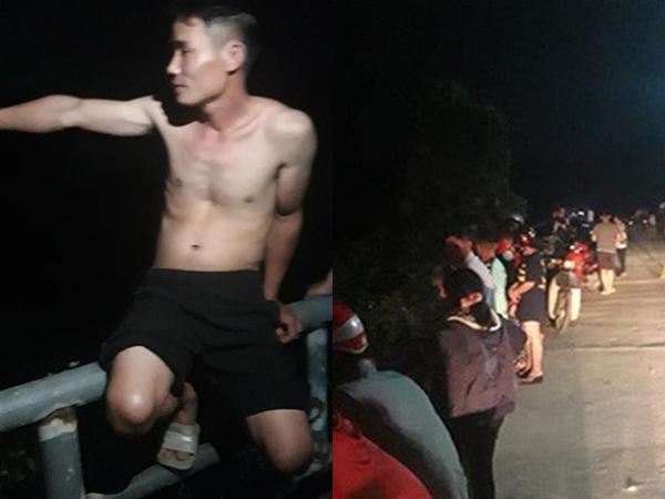 Đang chở con đi dạo, nam thanh niên nhảy xuống sông cứu cô gái bị đuối nước