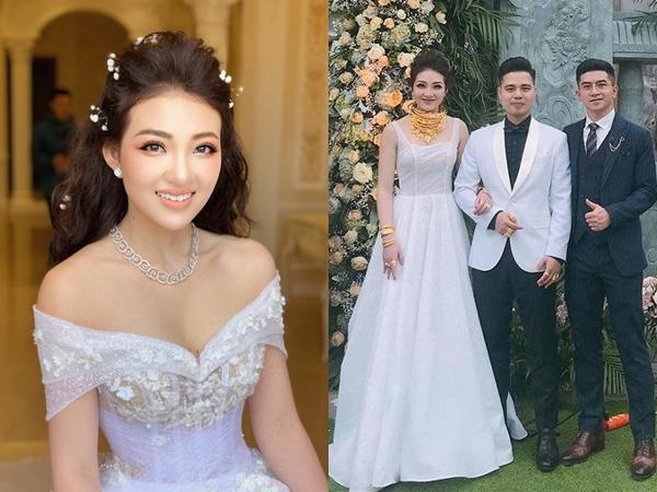 Hé lộ gia thế siêu khủng của cô dâu đeo vàng trĩu cổ ở Nam Định