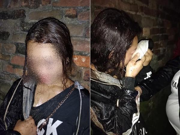 Xôn xao hình ảnh thiếu nữ nghi bị đánh ghen giữa đường, đổ mắm tôm bê bết lên đầu