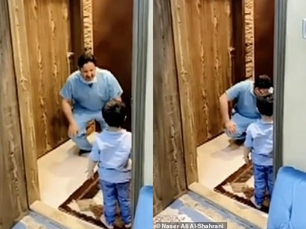 Làm việc tại bệnh viện chống dịch Covid-19, nam y tá bật khóc vì không dám ôm con trai