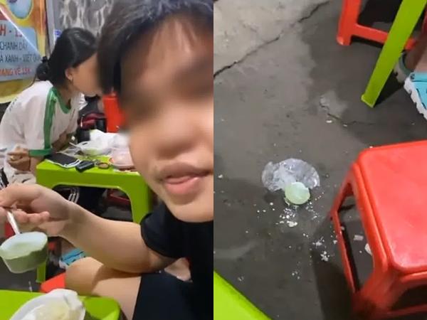 """Đua đòi theo trend anti """"trà xanh"""", thanh niên bất ngờ thẳng tay vứt miếng thạch trà xuống đất, dân mạng bức xúc vì phí phạm thức ăn và hành động quá phản cảm!"""