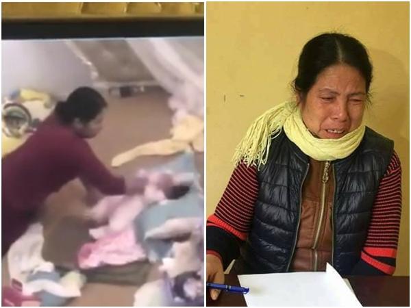 Clip: Rùng mình với lời khai của người giúp việc bạo hành bé gần 2 tháng tuổi