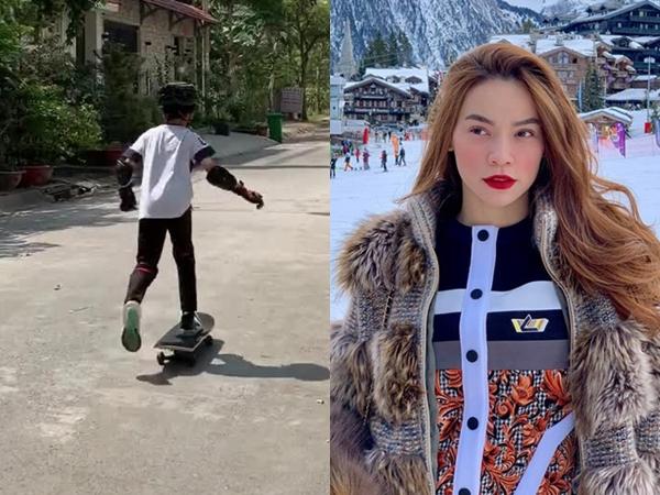Bé Subeo nhà Hồ Ngọc Hà - Cường Đô La trổ tài trượt ván cực chuyên nghiệp