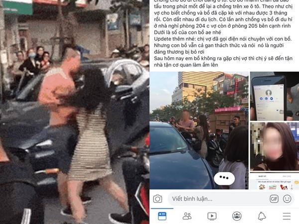 Hà Nội: Vợ mang thai uất ức đánh ghen chồng và bồ nhí giữa phố