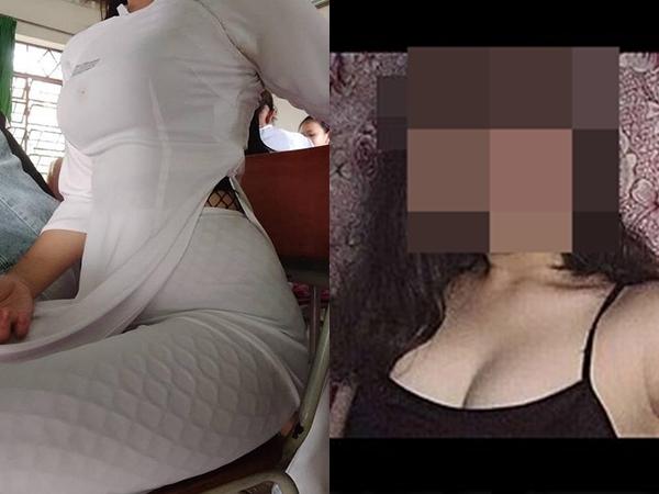 Nữ sinh cấp 3 bị 'ném đá' dữ dội vì mặc quần tất lưới như đi bar trong áo dài truyền thống, chụp ảnh khoe vòng 1 hết cỡ