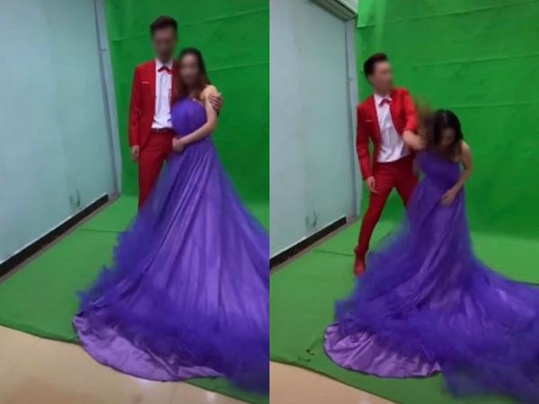 Tạo dáng xấu khi chụp ảnh cưới, chú rể đánh cô dâu xiểng niểng khiến ai nấy sốc nặng