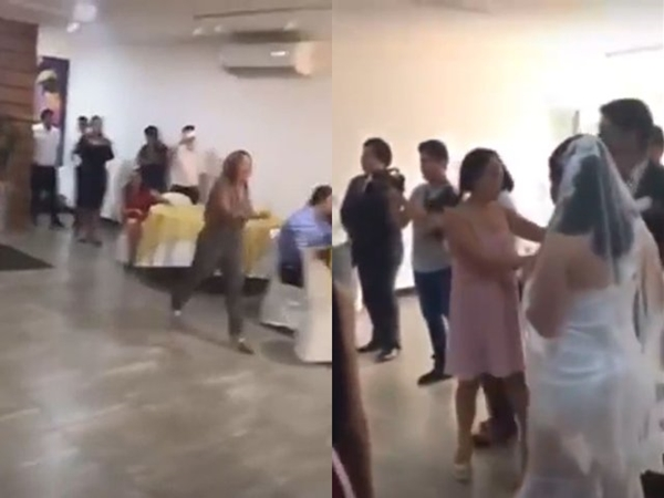 Clip người yêu cũ xông vào đám cưới tát cô dâu, nói còn yêu chú rể