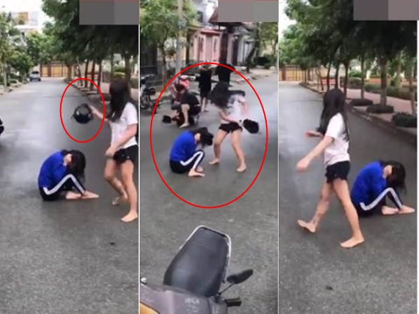 Clip nữ sinh bị bạn đánh vào đầu vỡ nón bảo hiểm: Công an tiết lộ nguyên nhân