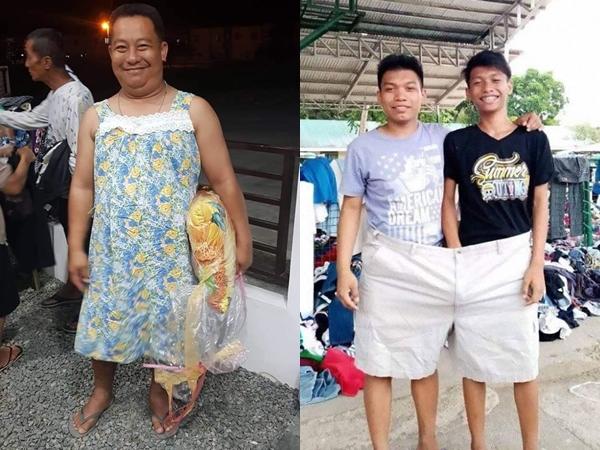 Cười không nhặt được mồm cảnh dân làng dùng quần áo từ thiện mở lễ hội hóa trang