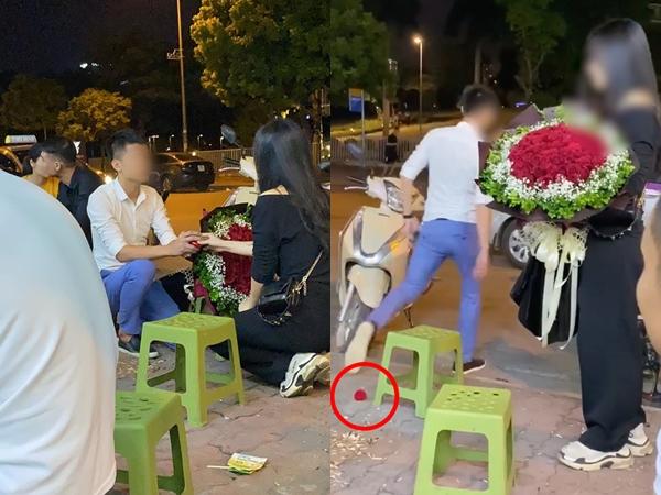 Clip: Quỳ xuống cầu hôn cô gái nhưng bị từ chối, chàng trai giận dỗi vứt lại nhẫn rồi bỏ đi thẳng thừng