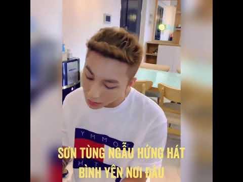 """Sơn Tùng đàn và hát live ca khúc """"Bình yên nơi đâu"""""""