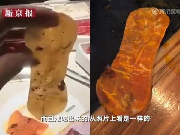 'Vật thể lạ' giống băng vệ sinh trong nồi lẩu ở nhà hàng Trung Quốc