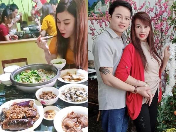 """Vừa khoe gương mặt đã khỏi bị lệch, cô dâu Cao Bằng 64 tuổi lại hé lộ hình ảnh cho thấy mối quan hệ của chồng """"phi công"""" với con gái riêng của vợ"""