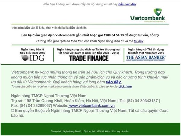 Website Vietcombank hiện 2 câu thơ chế truyện Kiều