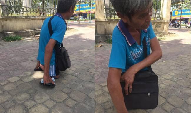 Cụ ông U70 bán vé số dị tật 2 tay 2 chân sợ được kêu gọi giúp đỡ vì toàn bị lừa