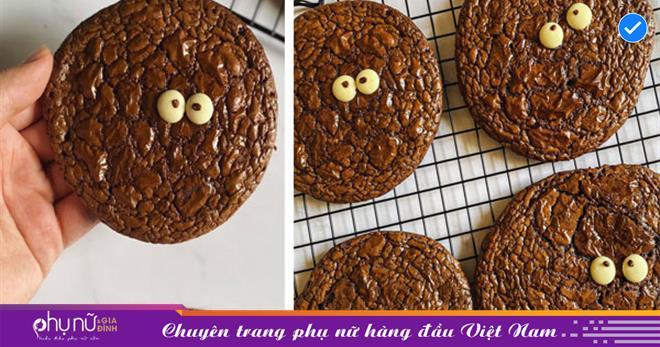 Biến cuộc sống nhàm chán ở nhà trở nên thú vị, 'ngọt lịm' với món bánh quy 'Brownie quái vật', trẻ thì thích chồng thì khen ngon