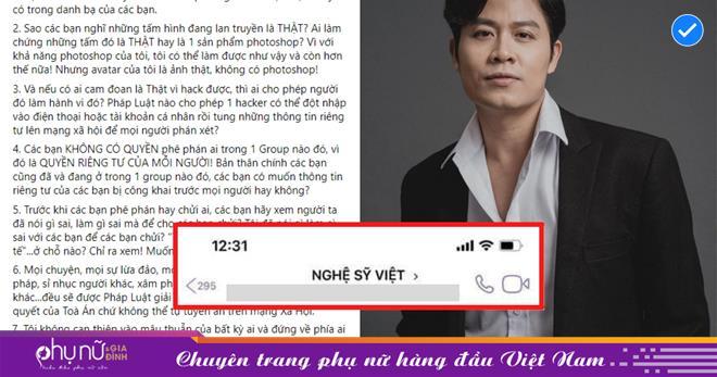 Nguyễn Văn Chung lên tiếng về nhóm kín 'Nghệ sỹ Việt': 'Tôi giả tạo, không tử tế chỗ nào?'