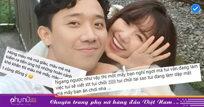 Trấn Thành - Hari Won bị antifan 'ném đá' khi đăng ảnh ca hát, nấu ăn trong mùa dịch, quản lý lên tiếng đáp trả