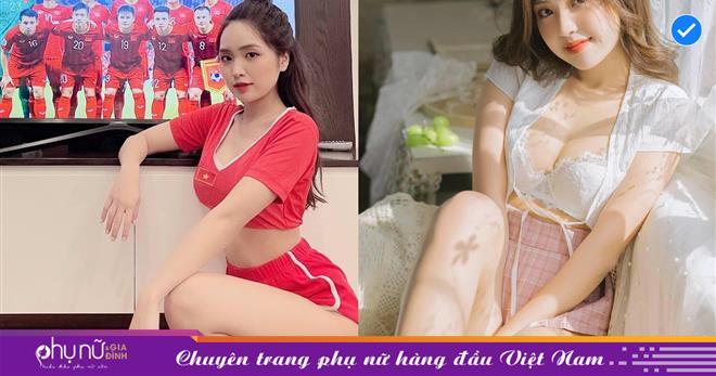 Cổ vũ tuyển Việt Nam kiểu 'cách ly mùa dịch', body 'hớp hồn' của nàng hotgirl Hà Thành khiến cộng đồng 'vạn tiễn xuyên tim'