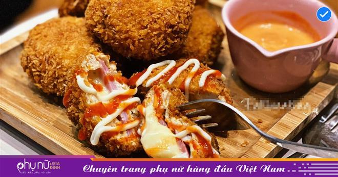 Với công thức 'không đụng hàng', gái xinh Hà Thành làm bánh gà nhân phô mai trong tan chảy ngoài giòn rụm 'ngon hết sảy'
