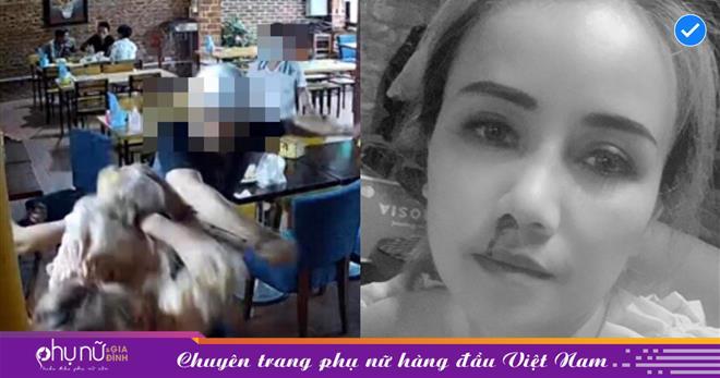 Diễn viên 'Về nhà đi con' Hoàng Yến tố bị chồng cũ đấm chảy máu mũi, cầm dao truy đuổi náo loạn quán ăn