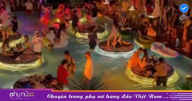 Tiệc 'nhảy múa, uống rượu' tại bể bơi 'sát rạt' như 'cá mòi' của các 'nam thanh nữ tú' bất chấp dịch bệnh ở xứ củ Sâm