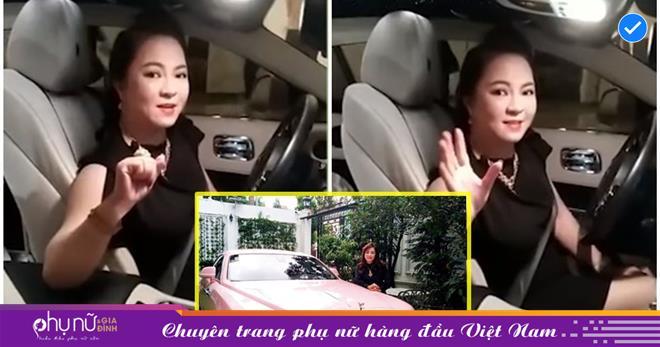 Tay chơi xe 'mới nổi' Phương Hằng diện váy siêu ngắn, 'cưỡi' Rolls-Royce livestream, tuyên bố sẽ sống theo 'cách nhà giàu'