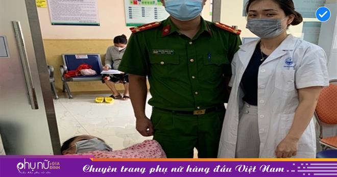 Chuyển dạ trong thời điểm Hà Nội giãn cách xã hội, thai phụ được hai chiến sĩ trực chốt 'hộ tống' đi sinh