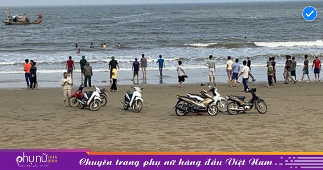 Nam Định: 18 học sinh lớp 7 rủ nhau đi chơi, 3 em không may bị nước cuốn mất tích